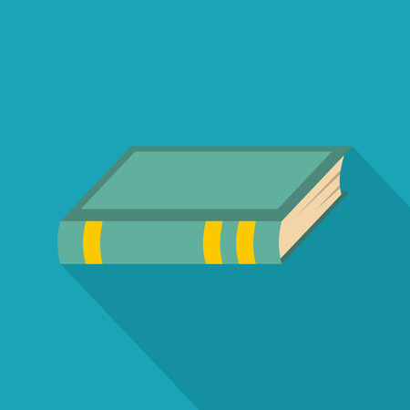 Book biology icon. Flat illustration of book biology vector icon for web