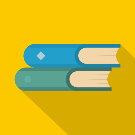 Book two icon. Flat illustration of book two vector icon for web