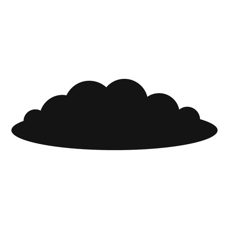 Cloud icon. Simple illustration of cloud vector icon for web Illustration