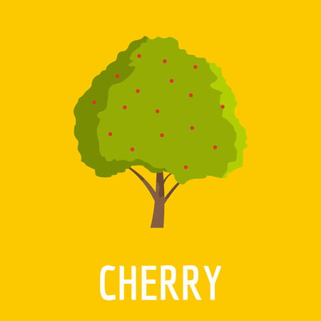 Cherry icon. Flat illustration of cherry vector icon for web Illustration