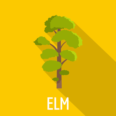 Elm tree icon. Flat illustration of elm tree icon for web.