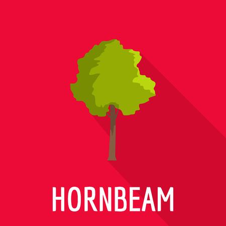Hornbeam tree icon. Flat illustration of hornbeam tree icon for web. 向量圖像