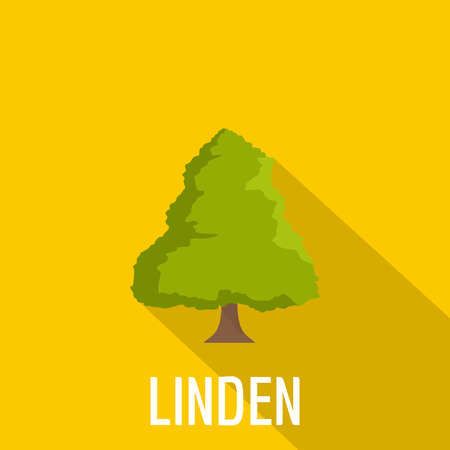 Linden tree icon. Flat illustration of linden tree vector icon for web