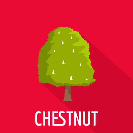 Chestnut tree icon. Flat illustration of chestnut tree vector icon for web Illusztráció
