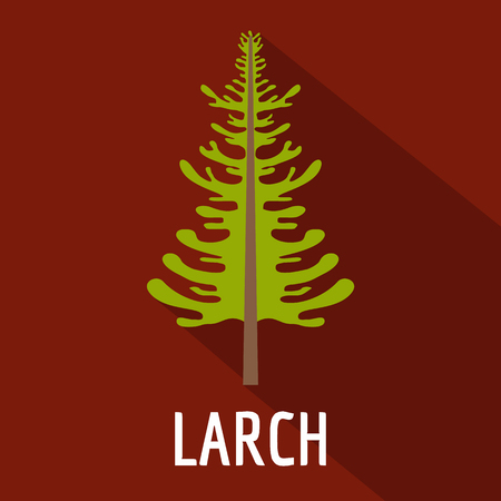larch tree icon. Flat illustration of larch tree icon for web.