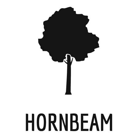 Hornbeam tree icon. Simple illustration of hornbeam tree icon for web.