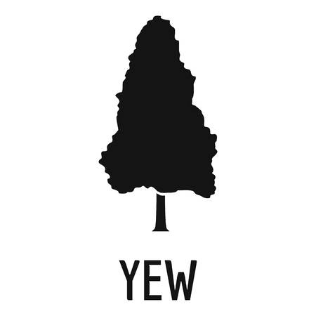 Yew tree icon. Simple illustration of yew tree vector icon for web