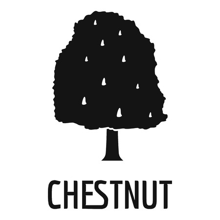 Chestnut tree icon. Simple illustration of chestnut tree icon for web.