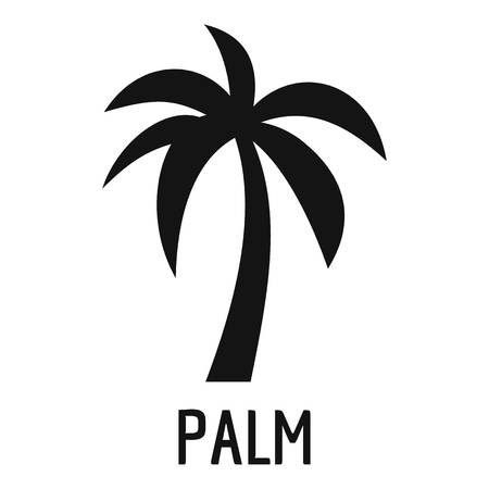 Palm tree icon. Simple illustration of palm tree vector icon for web