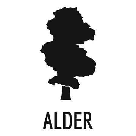 Icono de árbol de aliso. Ejemplo simple del icono del árbol de aliso para el web.