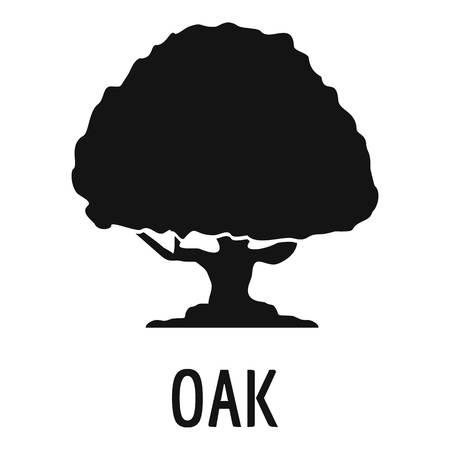 Icona di quercia. Illustrazione semplice dell'icona di vettore della quercia per il web