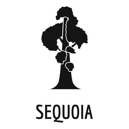 세쿼이아 아이콘입니다. 웹에 대 한 세쿼이아 아이콘의 간단한 그림입니다. 일러스트