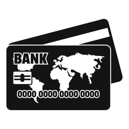 Credit card icon. Simple illustration of credit card vector icon for web