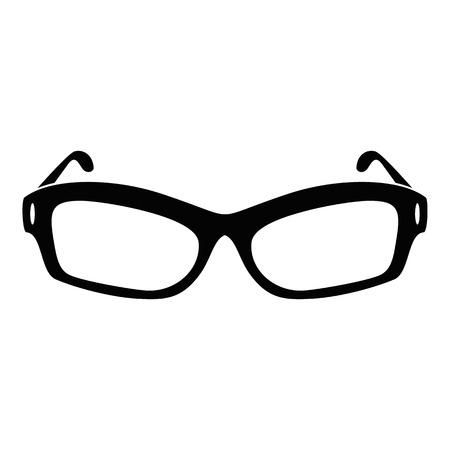 Eyeglasses icon. Simple illustration of eyeglasses vector icon for web