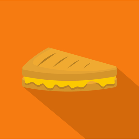 Sandwich icon. Flat illustration of sandwich vector icon for web