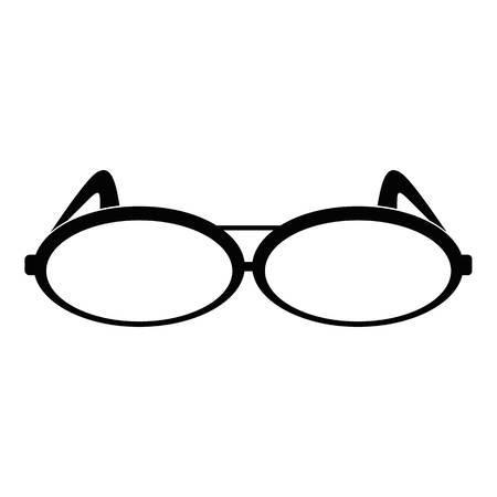 Round eyeglasses icon. Simple illustration of round eyeglasses icon for web. Illustration