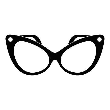 Fashion eyeglasses icon. Simple illustration of fashion eyeglasses icon for web. Illustration
