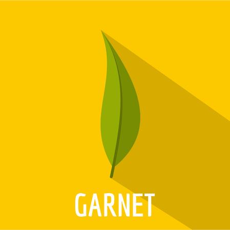 Garnet leaf icon. Flat illustration of garnet leaf icon for web.