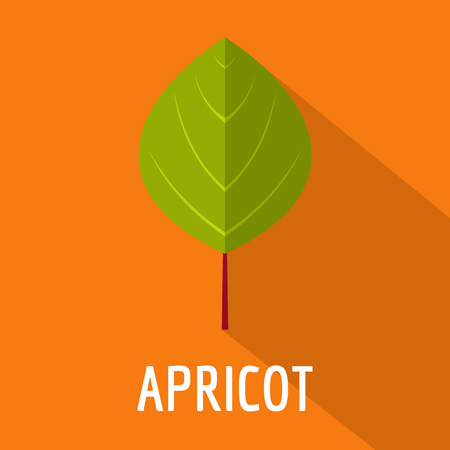 Apricot leaf icon. Flat illustration of apricot leaf icon for web, vector illustration.