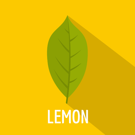 Lemon leaf icon. Flat illustration of lemon leaf icon for web.