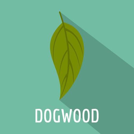 Dogwood leaf icon. Flat illustration of dogwood leaf icon for web.