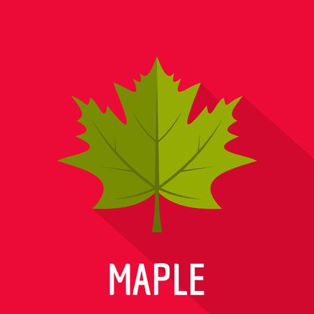 Maple leaf icon. Flat illustration of maple leaf icon for web.