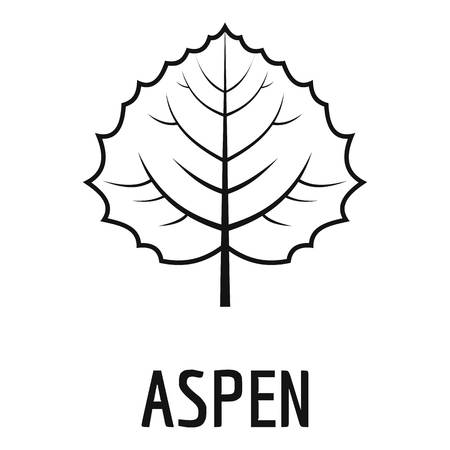 Aspen leaf icon. Simple illustration of aspen leaf icon for web.