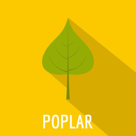 Poplar leaf icon. Flat illustration of poplar leaf icon for web. Illustration