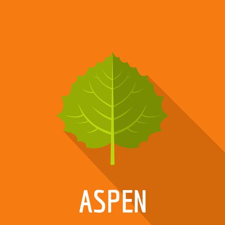 Aspen leaf icon. Flat illustration of aspen leaf icon for web.