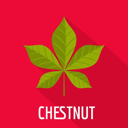 Chestnut leaf icon. Flat illustration of chestnut leaf icon for web.