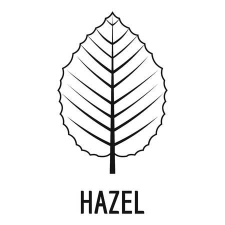 icône de noisette . illustration simple de feuille de noisette icône pour le web Vecteurs