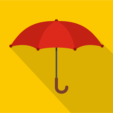 An Umbrella icon. Flat illustration of umbrella vector icon for web