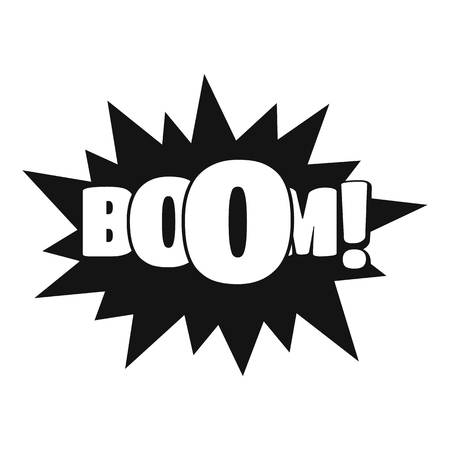 Comic boom big icon. Simple illustration of comic boom big vector icon for web