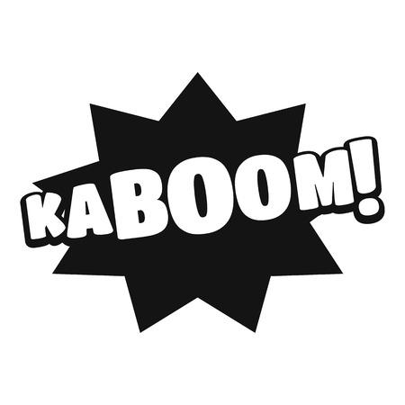 Comic boom kaboom icon. Simple illustration of comic boom kaboom vector icon for web Illustration