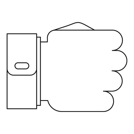 Fist icon. Outline illustration of fist vector icon for web