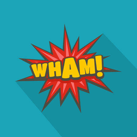 Comic boom wham icon. Flat illustration of comic boom wham vector icon for web