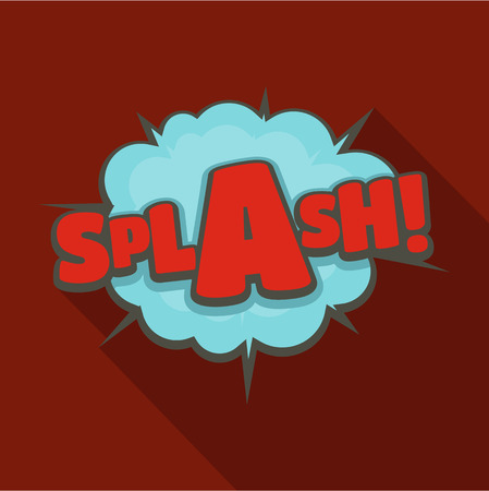 Comic boom splash icon. Flat illustration of comic boom splash vector icon for web