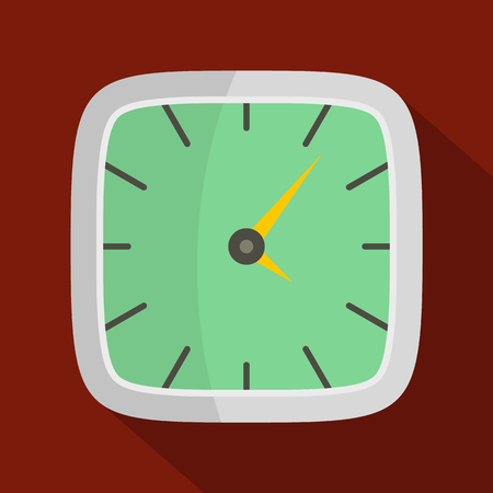 Clock wall icon. Flat illustration of clock wall vector icon for web