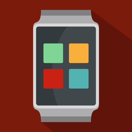 A Smart watches icon. Flat illustration of smart watches vector icon for web