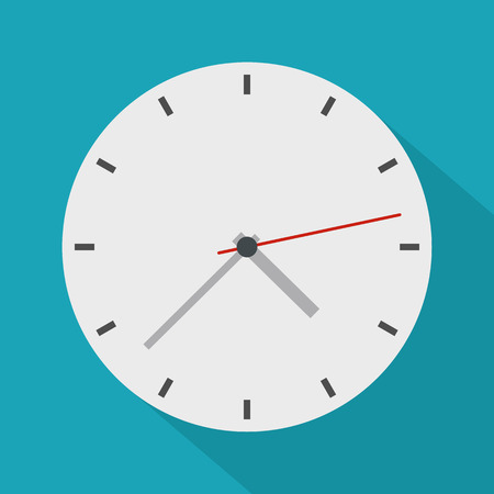 Clock modern icon. Flat illustration of clock modern vector icon for web