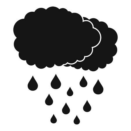 Icona pioggia nuvola. Illustrazione semplice dell'icona di vettore della pioggia della nuvola per il web Archivio Fotografico - 91728519