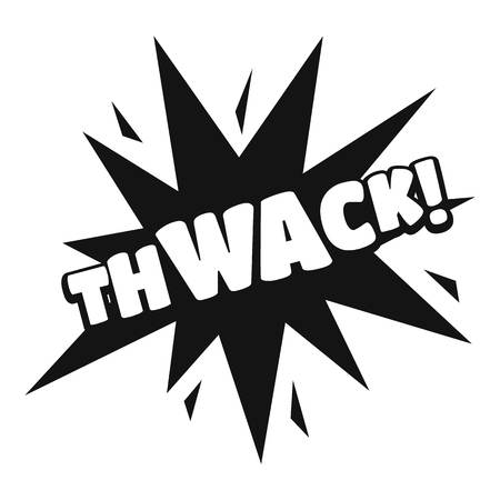 Comic boom thwack icon. Simple illustration of comic boom thwack vector icon for web