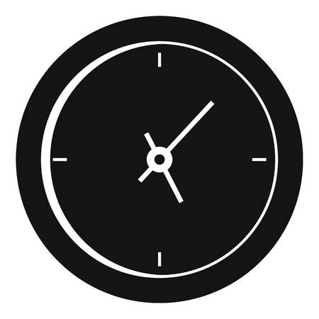 Clock minimal icon. Simple illustration of clock minimal vector icon for web