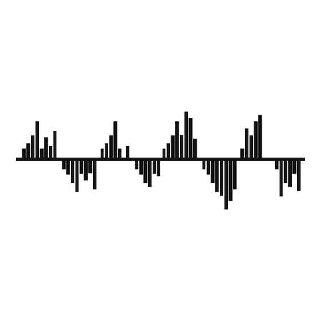 Equalizer signal icon. Simple illustration of equalizer signal vector icon for web Illustration