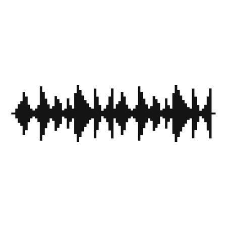 Equalizer song icon. Simple illustration of equalizer song vector icon for web Illustration