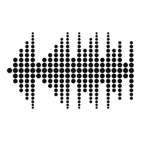 Equalizer effect radio icon. Simple illustration of equalizer effect radio vector icon for web