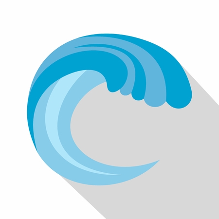 Wave water nature icon. Flat illustration of wave water nature vector icon for web