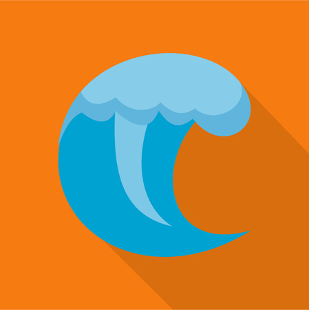 Wave water scene icon. Flat illustration of wave water scene vector icon for web