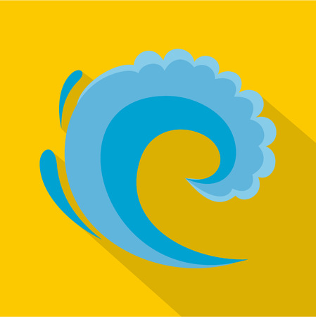 Wave water surfing icon. Flat illustration of wave water surfing vector icon for web