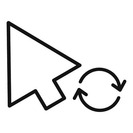 Arrow cursor loading icon.